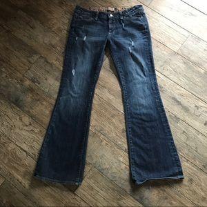 Paige Laurel Canyon Boot Cut Distressed USA Sz 30
